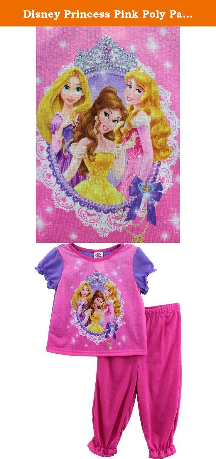 Disney Princess Pink Poly Pajamas