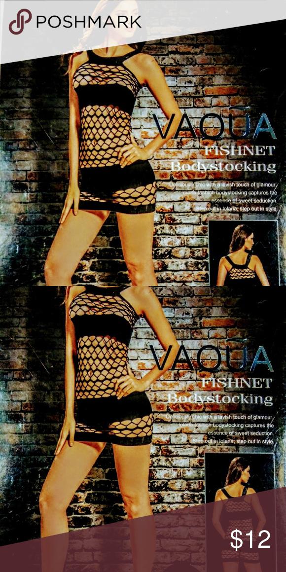 30dfe4196fe Vaqua fishnet bodystocking Vaqua fishnet bodystocking dress black vaqua  Intimates   Sleepwear