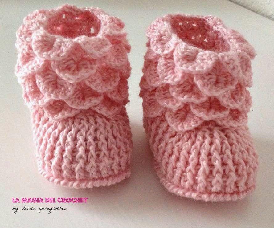 La Magia del Crochet: BOTITAS DE BEBE | manualidades tejidas ...
