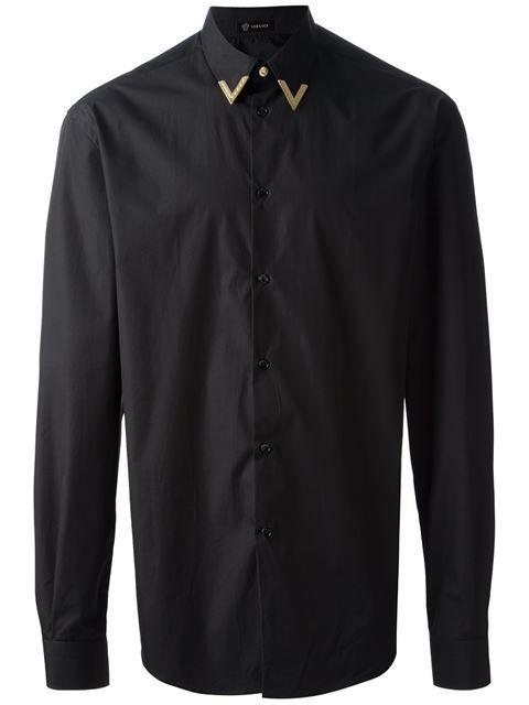 11fe71f87549 Versace Metallic Tip Shirt - Zoo Fashions - Farfetch.com