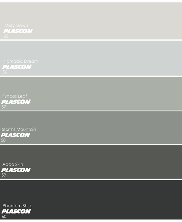 Image result for plascon colour fynbos leaf colours Different colours of grey paint