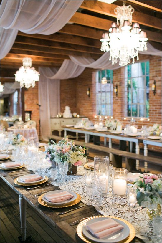 Pink And Gold Vintage Glam Wedding Outdoor Wedding