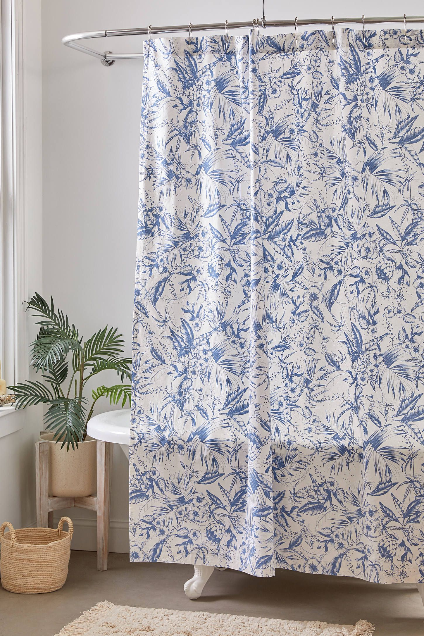 High Times Toile Shower Curtain Urban Outfitters Curtains Blue
