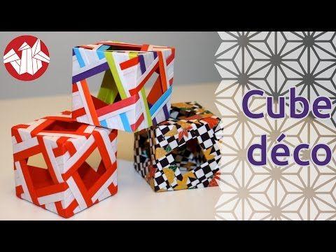 Origami Cube Dcoratif Decorative Cube Senbazuru Youtube