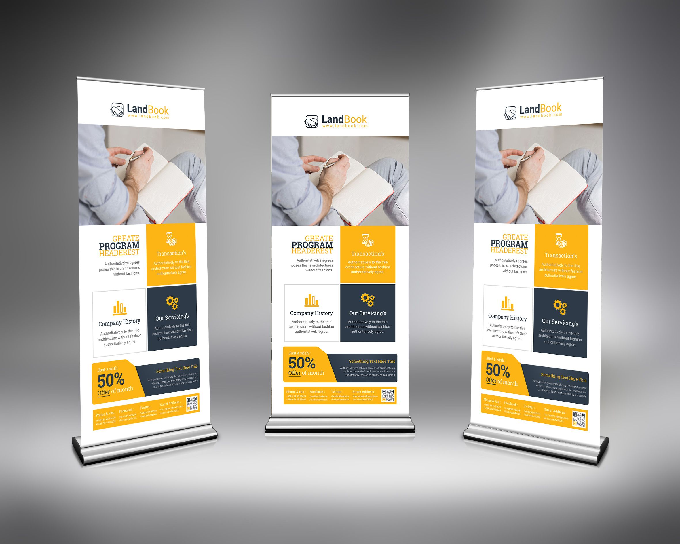 Psd Elegant Roll Up Banner Template Graphic Templates Banner Template Templates Print Design Template