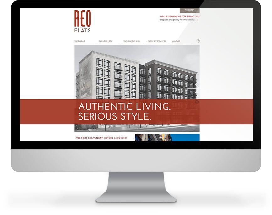 Website Design For Reo Flats In Seattle Wa Web Design Firm Creative Portfolio Website Design