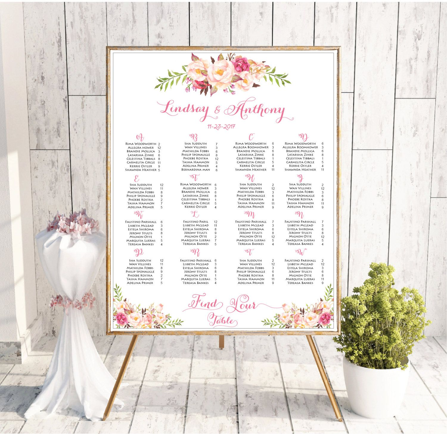 Wedding Seating Chart Template Wedding Seating Chart Printable