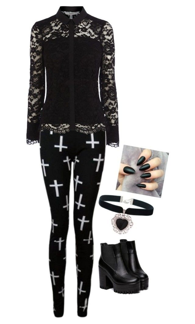 """Untitled #966"" by kaylakay-1 ❤ liked on Polyvore featuring moda ve Rock 'N Rose"