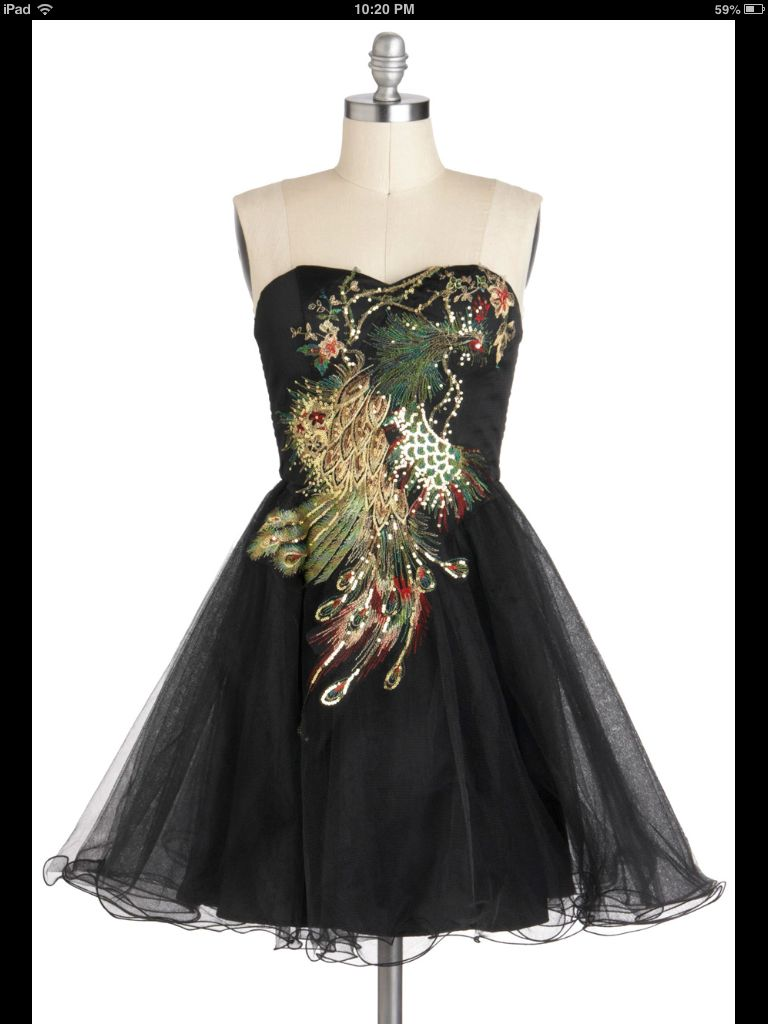 Peacock dinner party dress <3