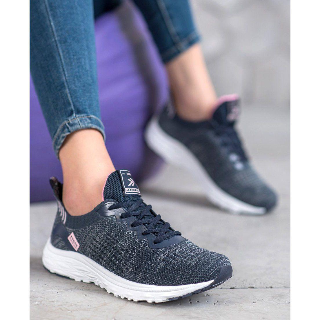 Ax Boxing Lekkie Buty Tekstylne Niebieskie Adidas Sneakers Shoes Sneakers