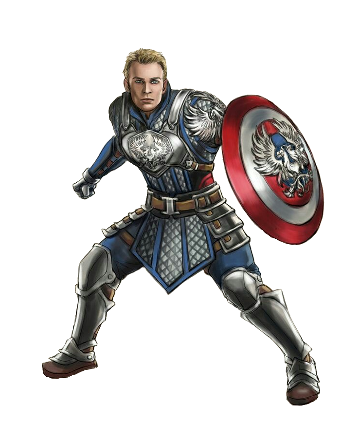 Warriors Imagine Dragons Captain America: Captain America As A Human Male Shield Champion Brawler