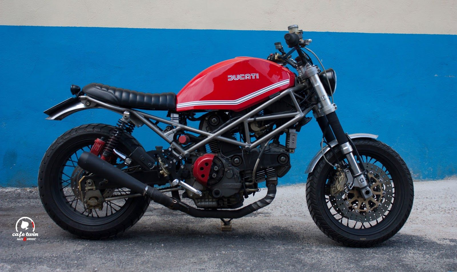 """Hooligan"" Ducati Monster by Cafe Twin"