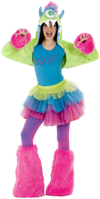 Girls Uggsy Monster Tween Costume Green Tween for