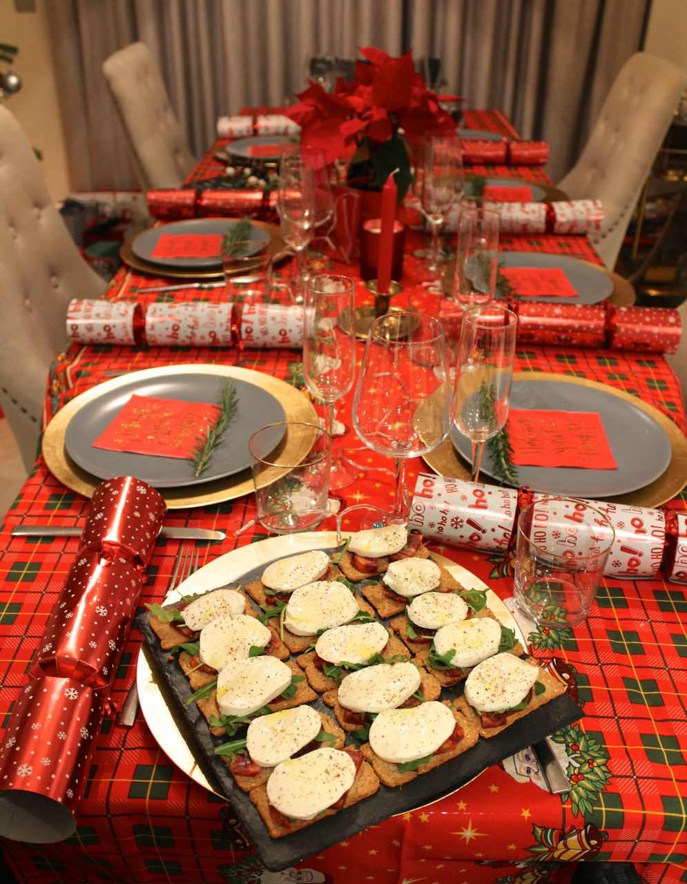 Christmas Table Set up Canapes  Food Ideas