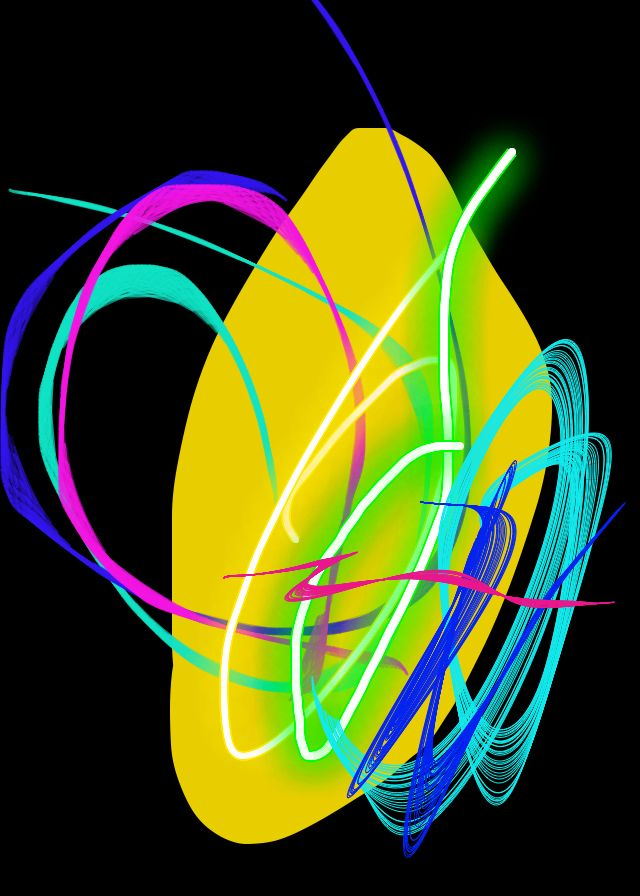 I drew this painting with Kids Doodle on iPhone :)