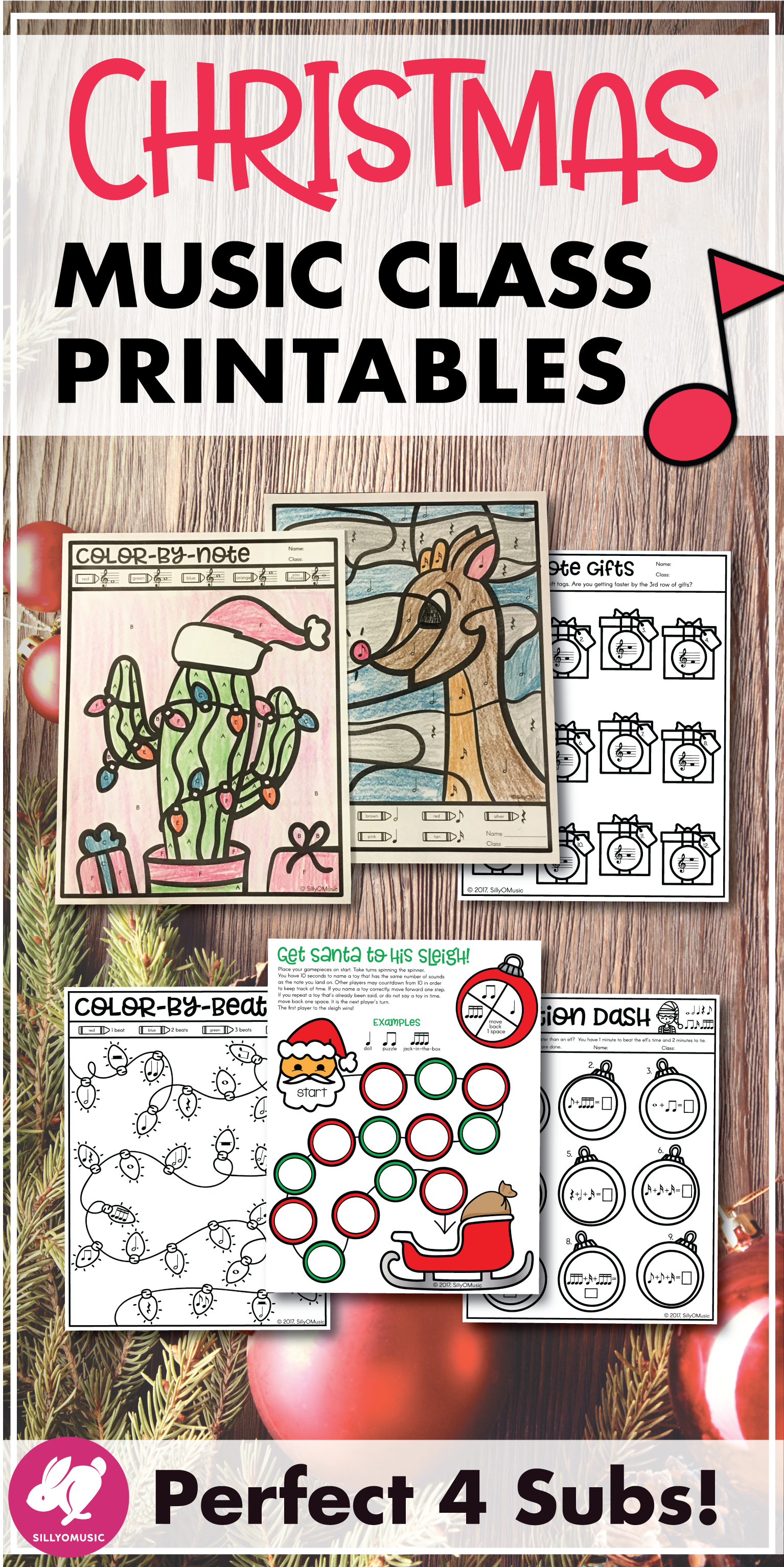 Christmas Music Worksheets Amp Coloring