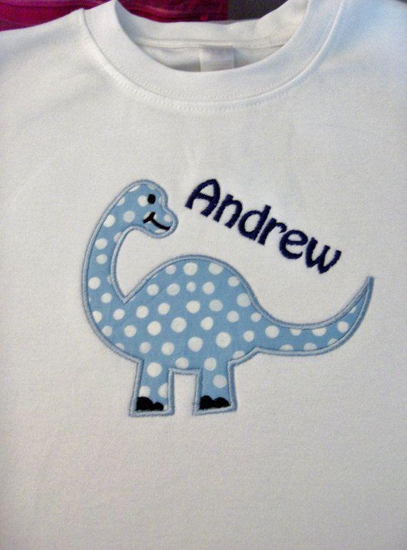 custom boutique boy dinosaur animal applique por adorabledesignz ...