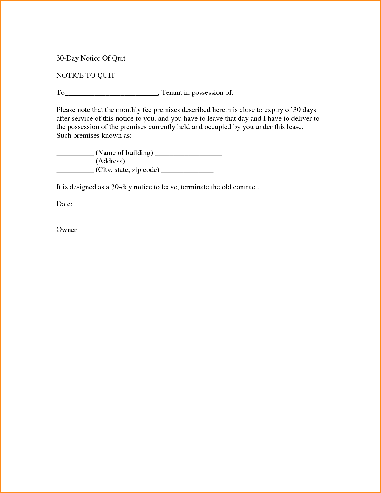 letter to quit job
