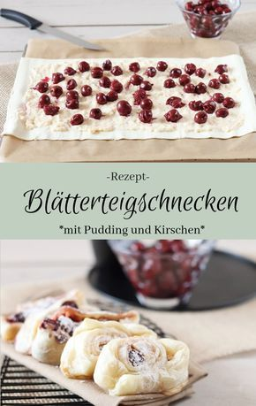 Photo of Sweet puff pastries with cherries and pudding – The inspiring life