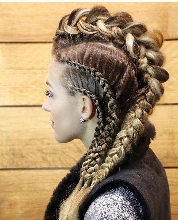 Awesome Faux Hawk Viking Hair Viking Braids Hair Styles