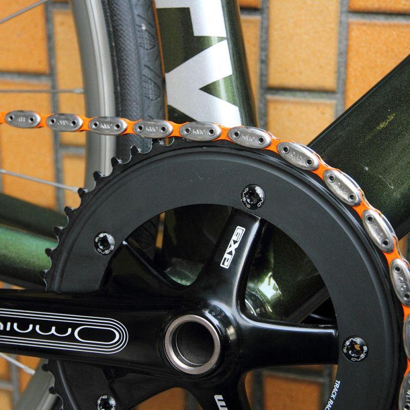 Kmc City Hunter Chain Silver Orange 自転車 自転車 パーツ シクロクロス