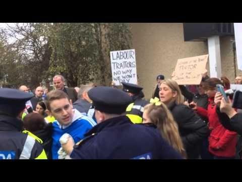 Joan Burton Surrounded By Protestors In Jobstown Dublin Today Joan Dublin Today