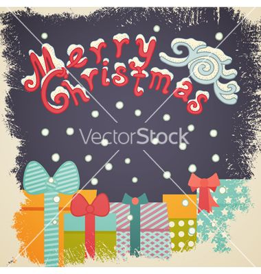 Christmas card vector by tiff20 on VectorStock®