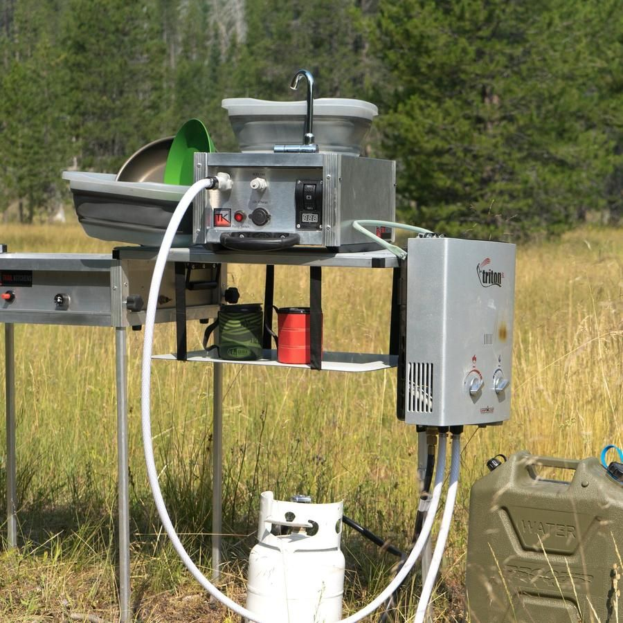 Water Boy Camp Sink Camping Shower Hot Water System Solar Panels