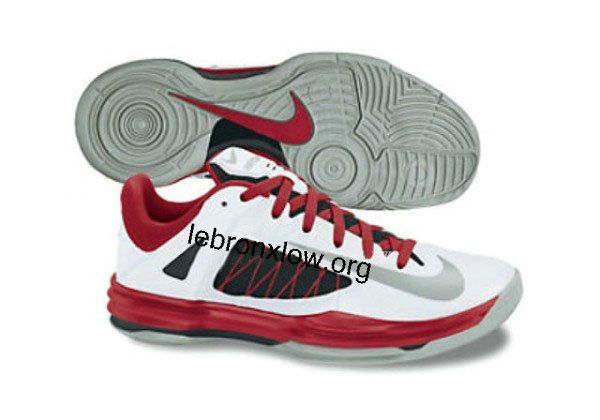save off e22bf bf3ac Nike Lunar Hyperdunk Low 2012 White Sport Red Metallic Silver Spring 2013