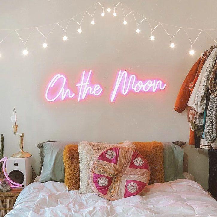 On The Moon Neon Led Flex Sign Neon Bedroom Bedroom Signs Neon