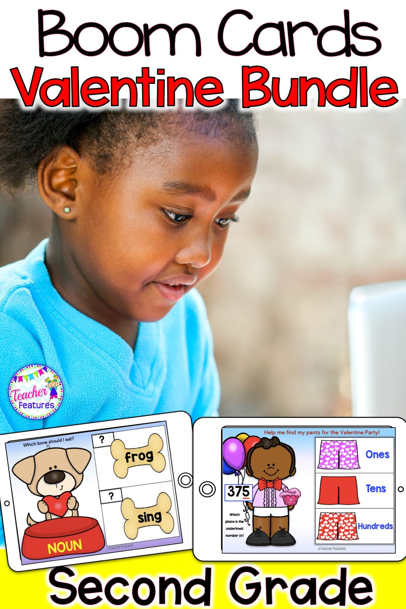 Distance Learning Boom Cards Valentine S Day 2nd Grade