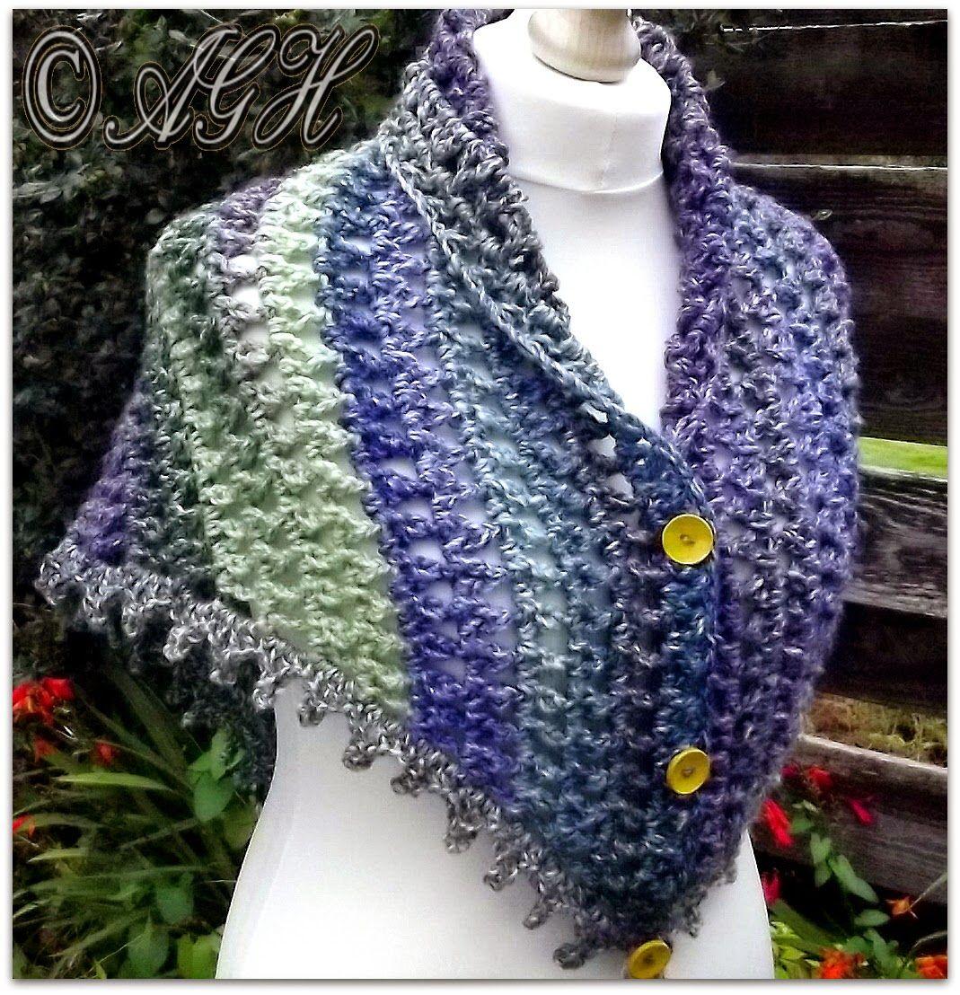 """Dawn"" Treble Mesh Shawl Free Crochet Pattern from AG Handmades"