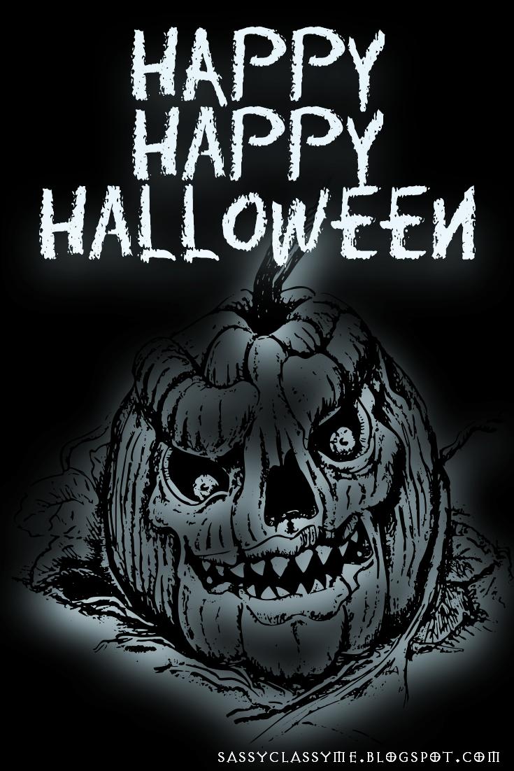 Happy Happy Halloween Evil Pumpkin 10 Spooky