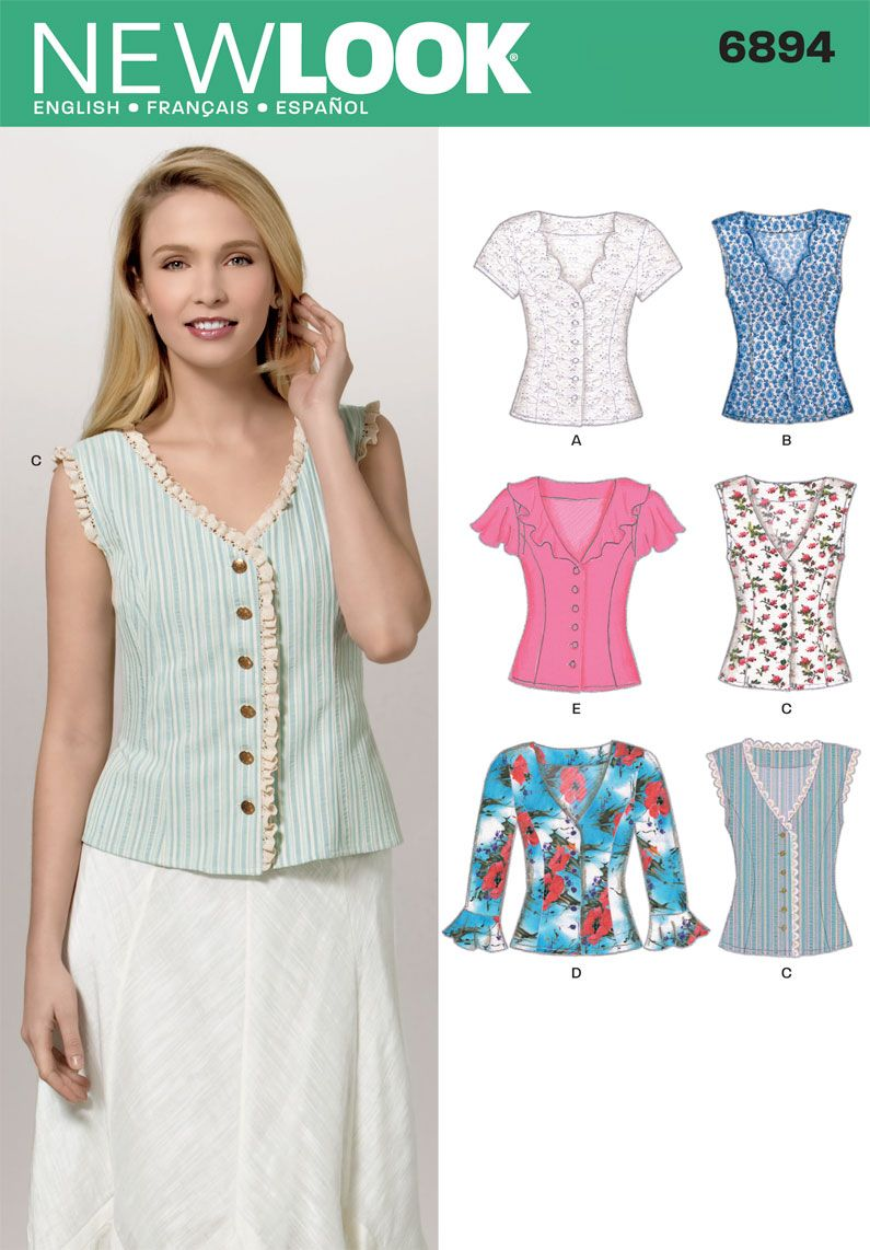 Womens blouses sewing pattern 6894 new look sew beautiful womens blouses sewing pattern 6894 new look jeuxipadfo Image collections