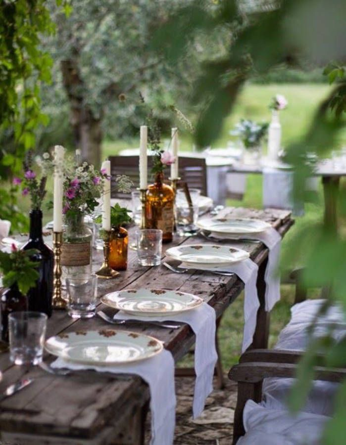 table de mariage 35 idees deco dignes de ce grand jour outside entertaining pinterest tablescapes table decorations and table settings