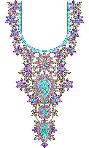 Latest Trendy Neck Embroidery Design | blouses | Pinterest