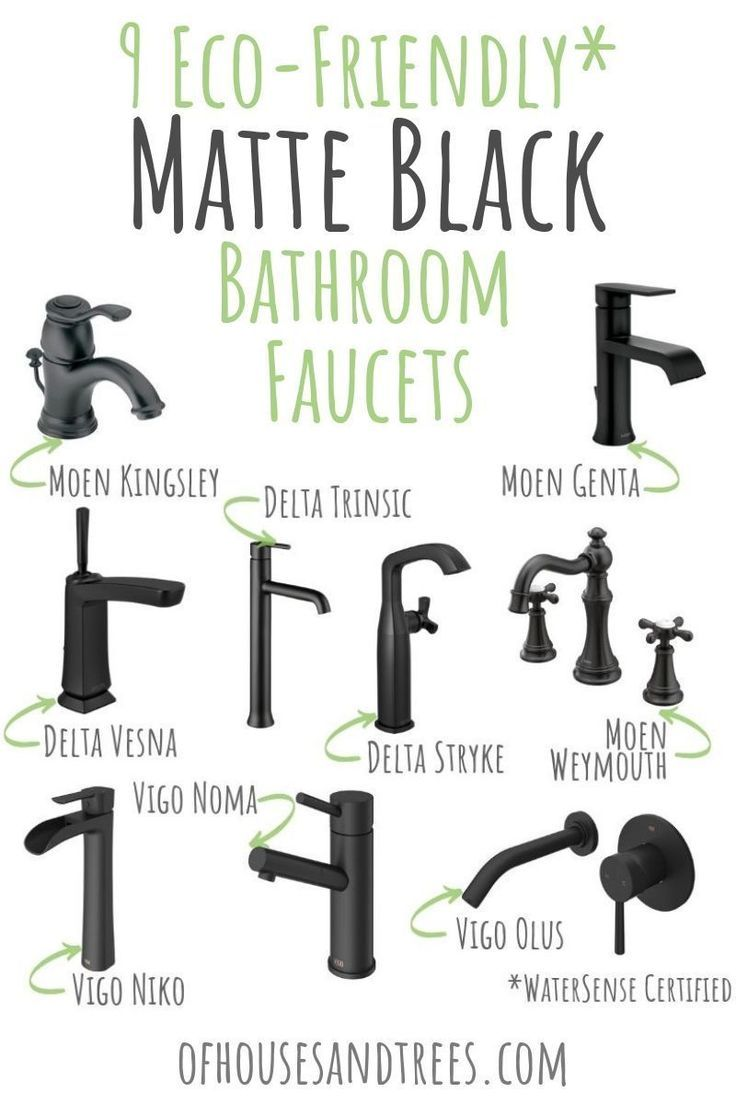 Black Bathroom Sink Faucets Are On Trend And Thanks To These Nine Watersense Certified Faucets You Black Bathroom Black Bathroom Sink Bathroom Sink Faucets