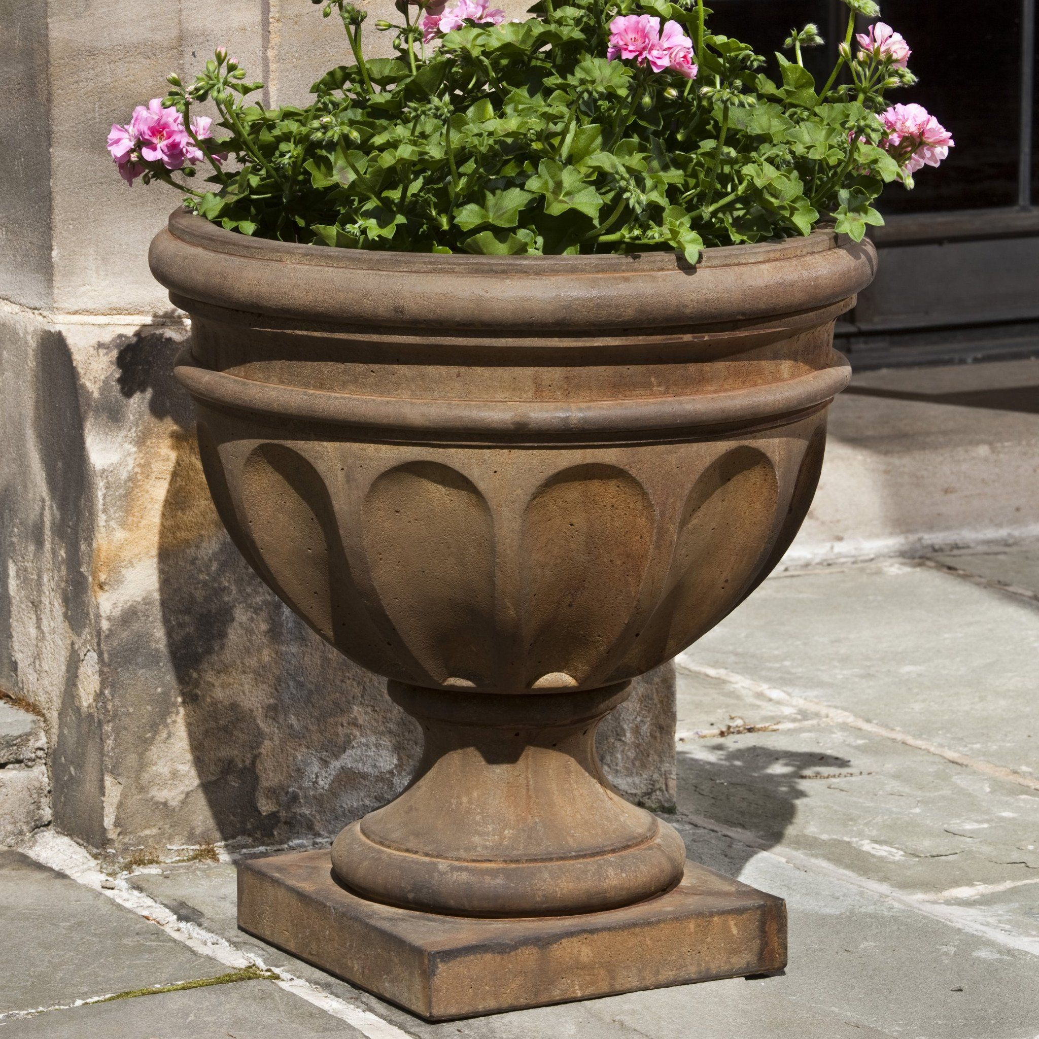 and pin urn urns planters fiberstone planter outdoor
