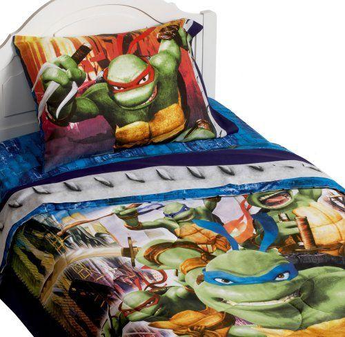 Teenage Mutant Ninja Turtles Bedding Collection Http Www Amazon Com Dp B000q8vzri R Teenage Mutant Ninja Turtles Bedroom Ninja Turtle Bedroom Turtle Bedroom