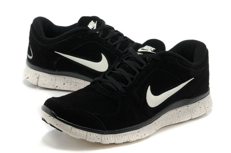 nike free run black white