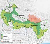Carte Du Parc National Du Mercantour Parc Du Mercantour