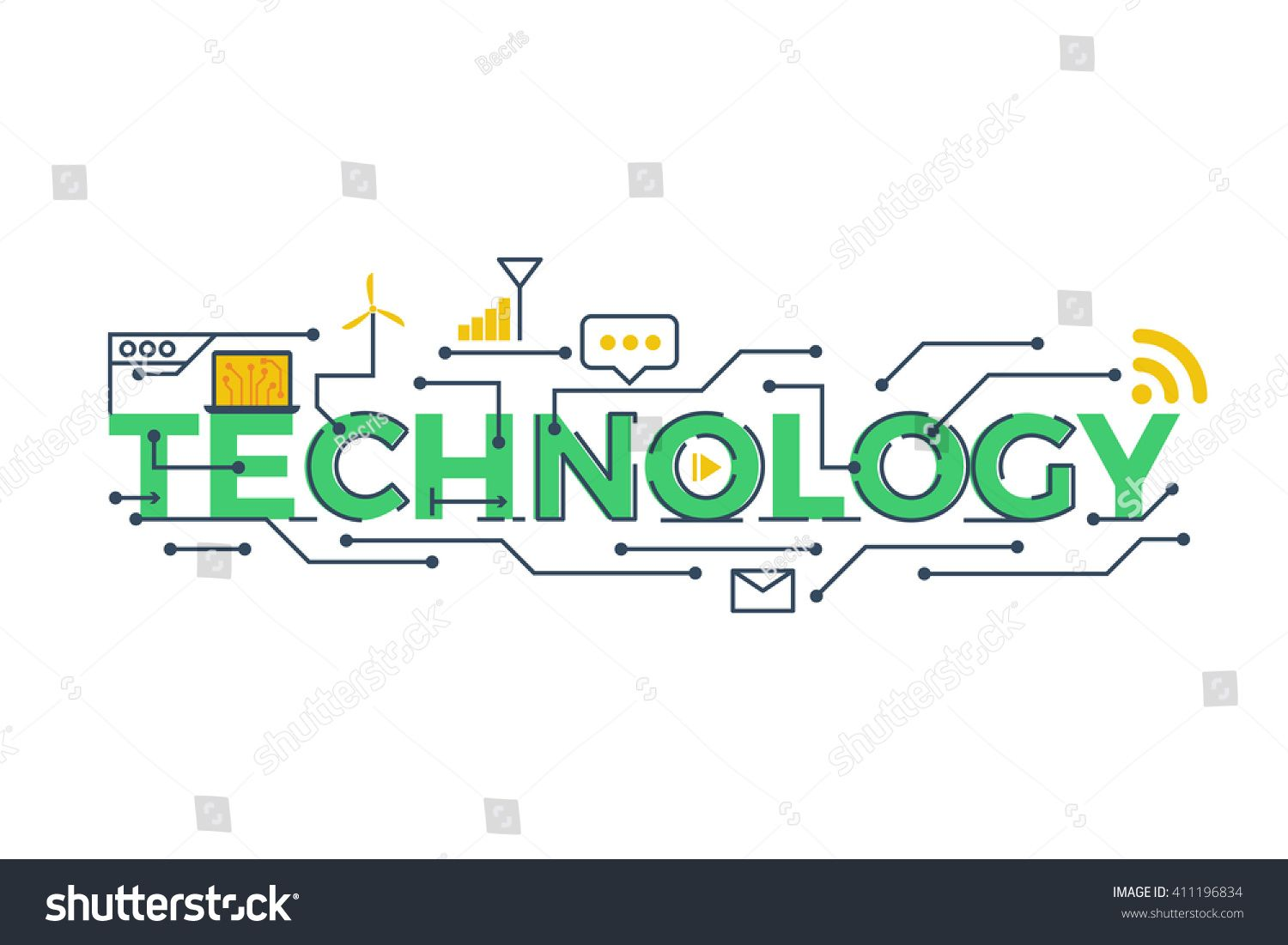 Illustration Of Technology Word In Stem Science Technology Engineering Mathematics Education Concept Typogra Mathematics Education Stem Science Word Stems