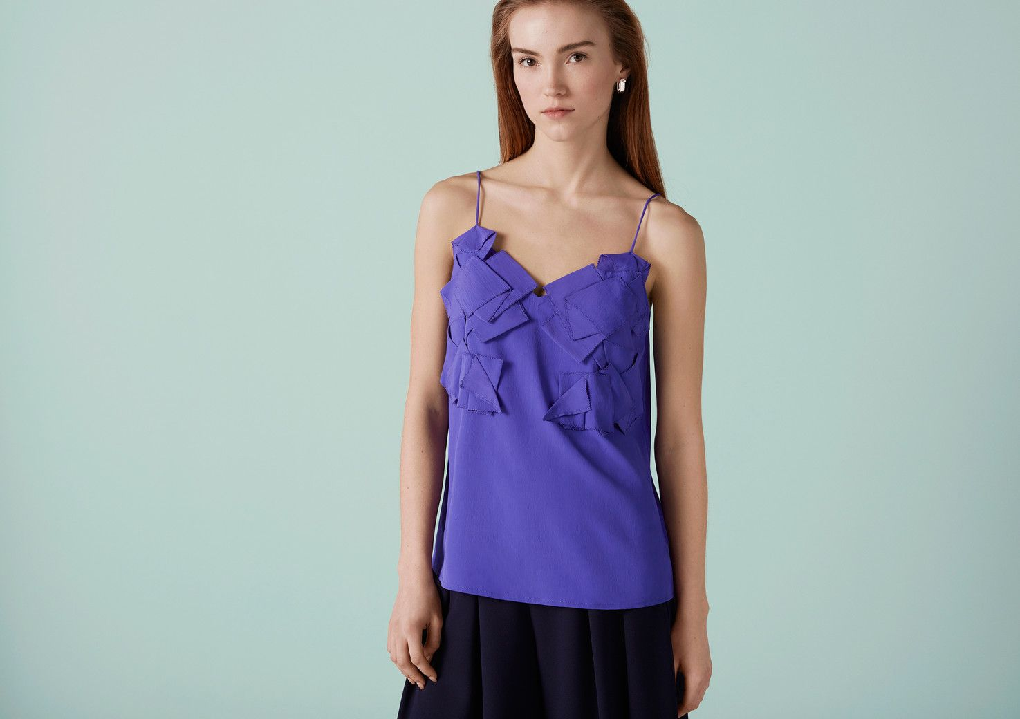 Discover The Maida Origami Cami On Finery London Tops Designed In Available Navy