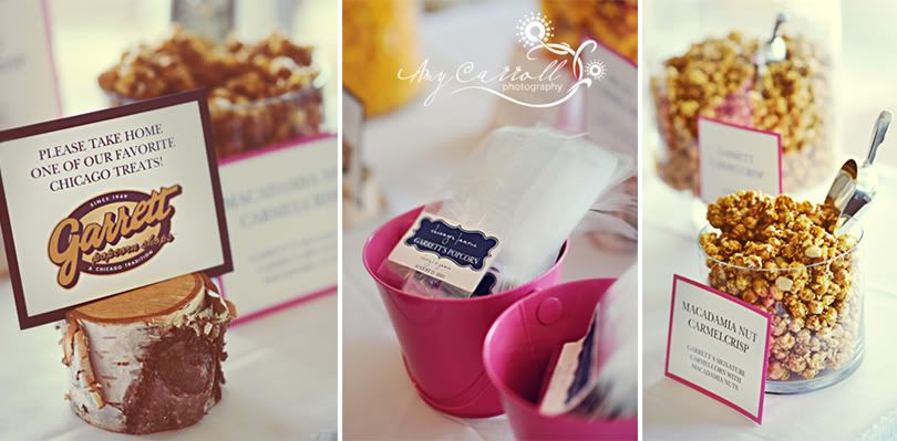 Popcorn bar and Favors
