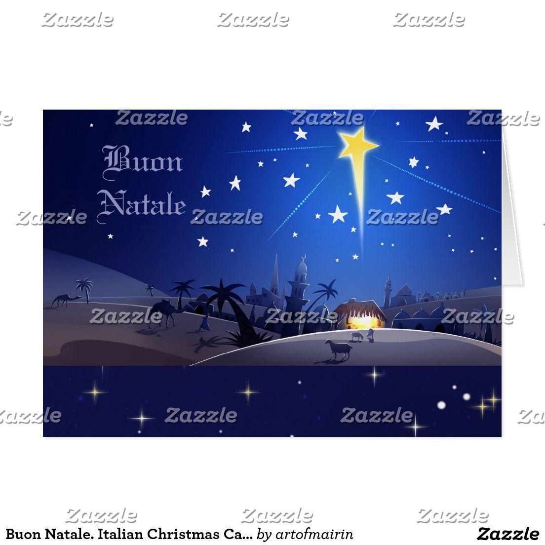 Buon Natale Italian Christmas Card Season Greeting Cards