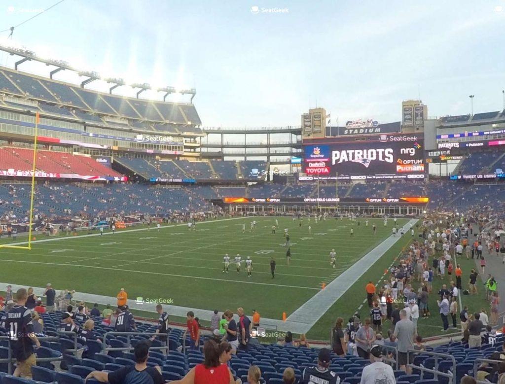 Gillette Stadium Seating Chart Concerts Gillette Stadium New England Patriots Stadium