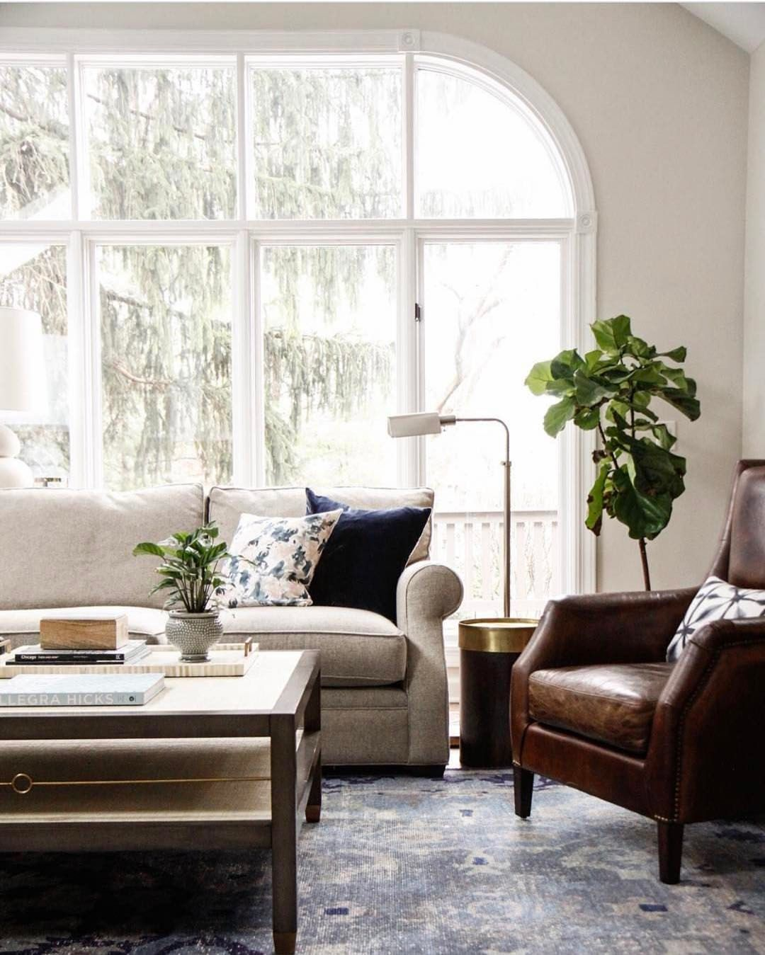 Light and bright transitional living room | See this Instagram photo ...