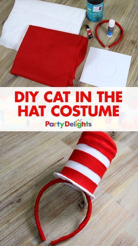 DIY Cat in the Hat Costume u2013 Mini Top Hat | Dr seuss costumes Costumes and Book week costume & DIY Cat in the Hat Costume u2013 Mini Top Hat | Dr seuss costumes ...