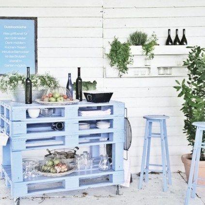 6 façons du0027utiliser le bois de palette dans le jardin Bar en bois