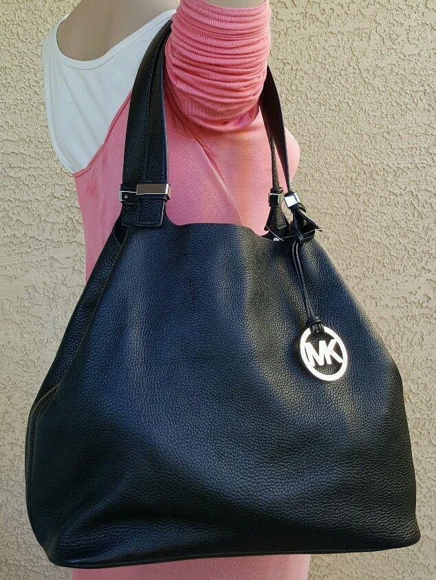 364c7399c275 NEW black Michael Kors Colgate Reversible Leather Grab Tote Bag Purse  shoulder #MichaelKors #ShoulderBag